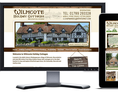 Wilmcote Holiday Cottages Website Design