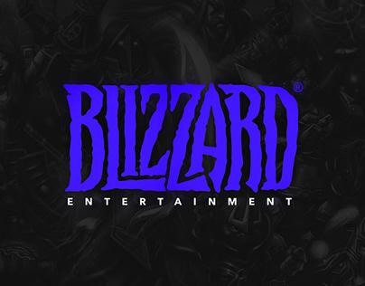 "redesign the ""Blizzard"" logo (concept)"