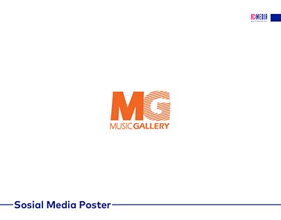 Music Gallery üçün hazırlanmış sosial media poster