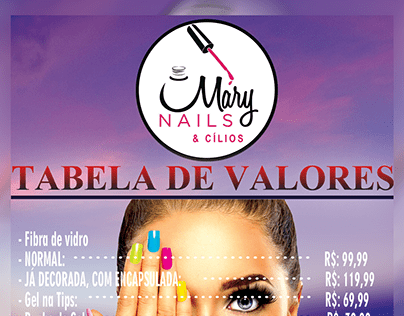 FLYER - MARY NAILS & CÍLIOS