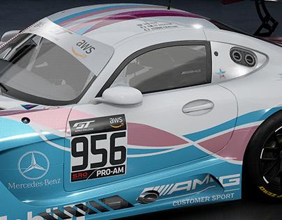 Mercedes AMG GT3 Silver Girls #956