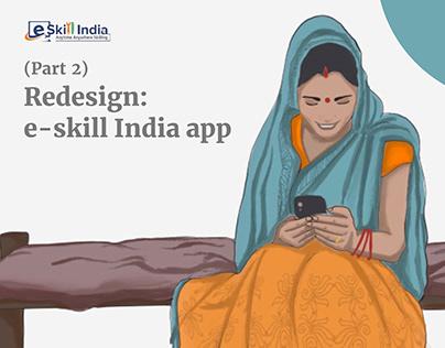 UI+UX | e-skill India: Redesign (Part 2)
