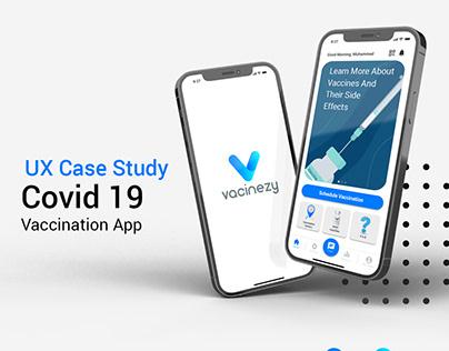 Covid Vaccination App I UX Case Study