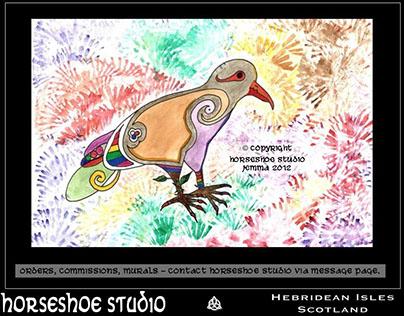 Birds - Chalk Pastel