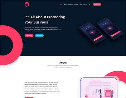 Web design - landing Page