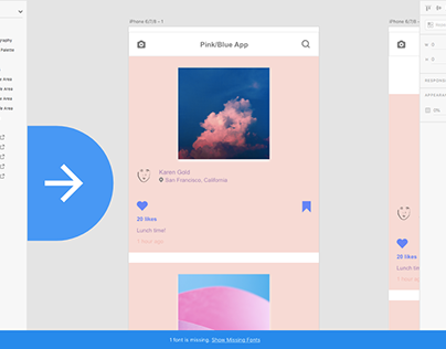 Pink/Blue Photo App