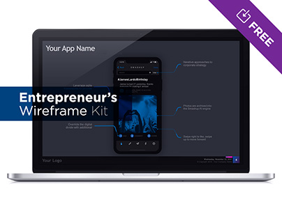Entrepreneur's Wireframe Kit - PowerPoint / Keynote