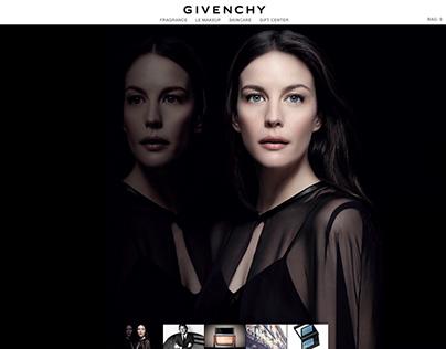 Concept Design for Givenchy website