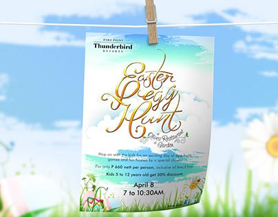 Easter Egg Hunt Dining Promo Flyer