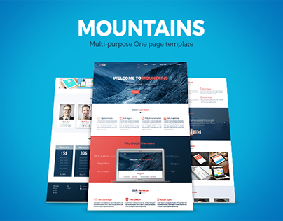 Mountains One page Template