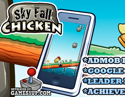 Sky Fall Chicken - game template