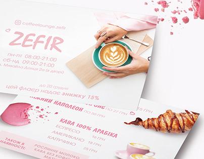 cafe ZEFIR flyer design