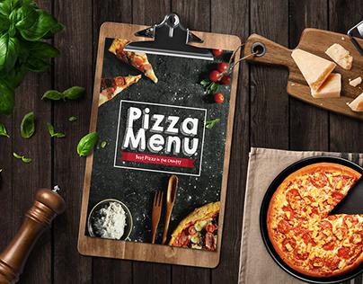 Artistic Pizza Menu Template #food #menu #pizzamenu