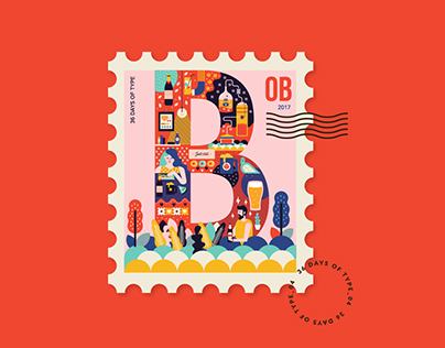 36 Days of Type 2017 Stamp Collection