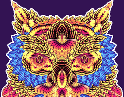 When The Owl Sings... 2D/3D Abstract