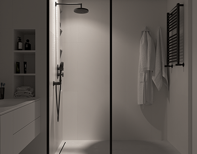 WHITE SHOWER DESIGN
