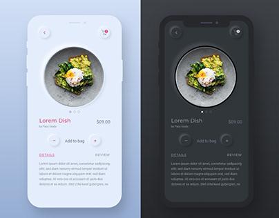 Food App: Neomorphism/Soft UI concept-1