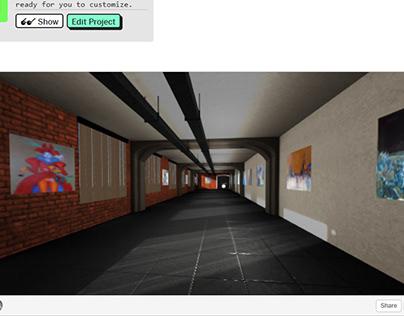 Виртуальная галерея - web, three.js