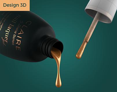 Design 3D Claire nail polish