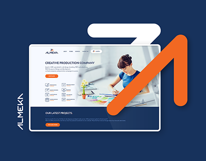 ALMEKA Landing Page Design