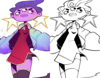 Lulu Papillon - Character Design