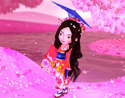 Animation: Dancing in Sakura Land
