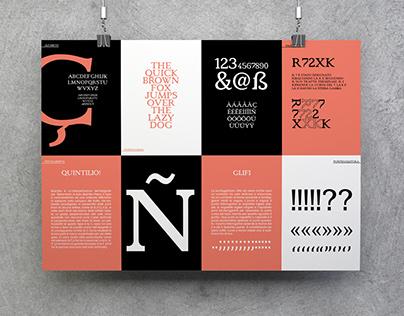 SPECIMEN. Quintilio Type Design