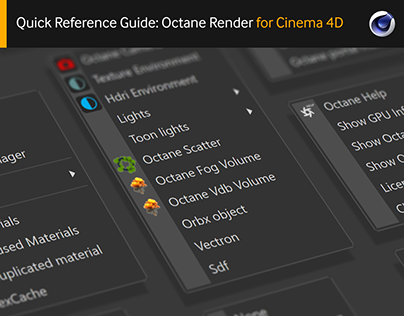 Quick Reference Guide: Octane Render for C4D