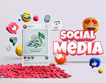 Social media ( Saudi National Day )