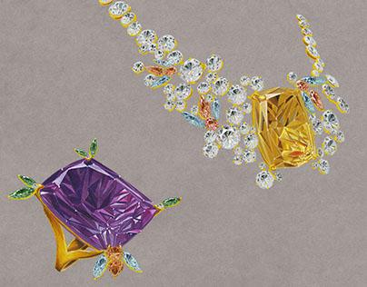 Jewelry Hand Rendering
