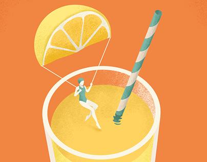 Editorial illustrations for Freundin