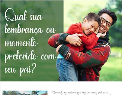 Email marketing dia dos pais | Gaveteiro.com.br