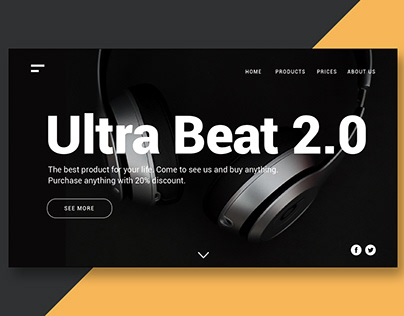 Ultra Beat - Hero Section