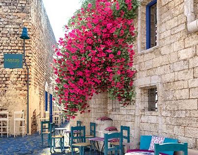 Pink Flowers Street