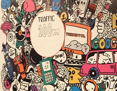 Trendyol Office Illustration Wall Drawing