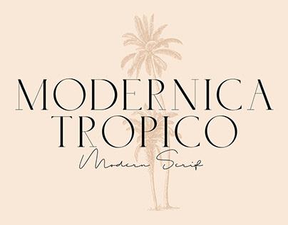 Modernica Tropico - Caps Serif Font