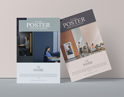 Stylish Poster Mockup Free For Branding
