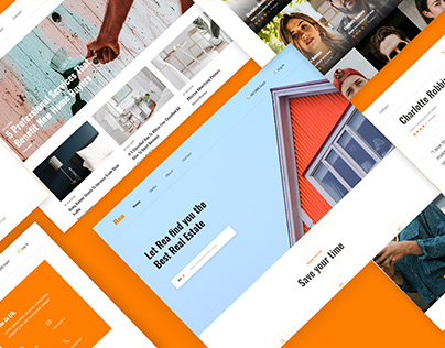 REA - Real Estate Agent Website Free UI Kit Download
