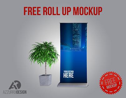 FREE ROLL-UP mockup (PSD)