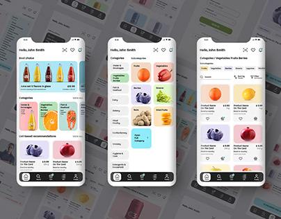 UI Kit Mobile App Grocery Store Online