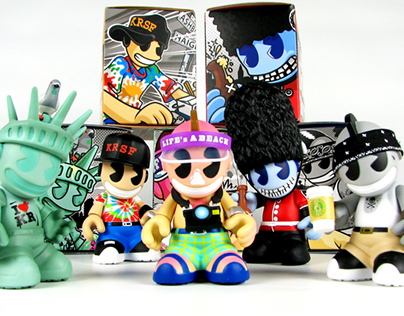 "Kidrobot ""CITY BOTS"" 3in Mascot Figures"