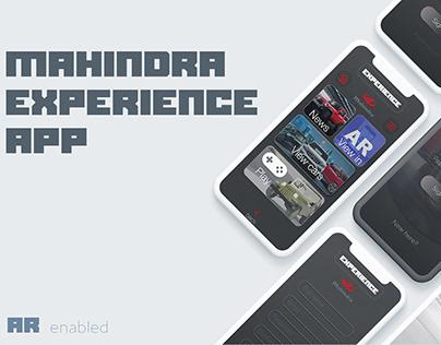 AR enabled experience App for Mahindra customer