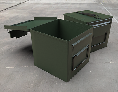 Square Ammo Can