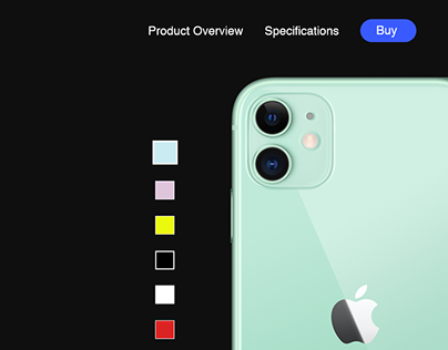 iPhone 11 Product Landing Page