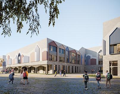 School. Architectural Visualization