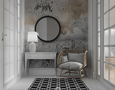 Entrance hall inspired by mixture of styles