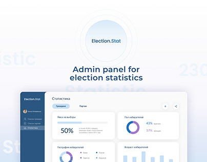 Admin Panel Dashboard for Election Statistics