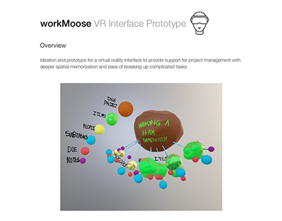 workMoose | VR Interface Prototype