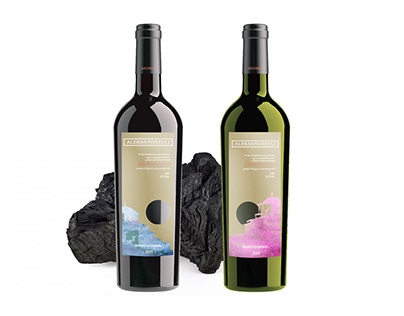 Wine label development forAleksandreuli
