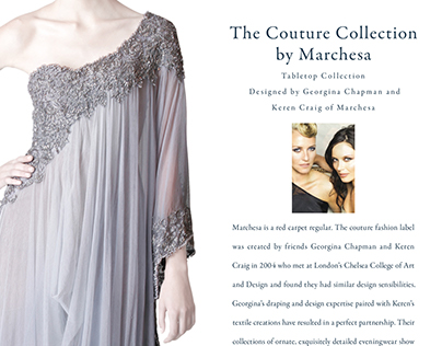 Marchesa Ad with Advetorial for Affluent Magazine